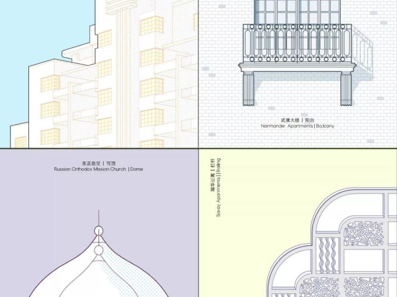 系列建筑细部明信片